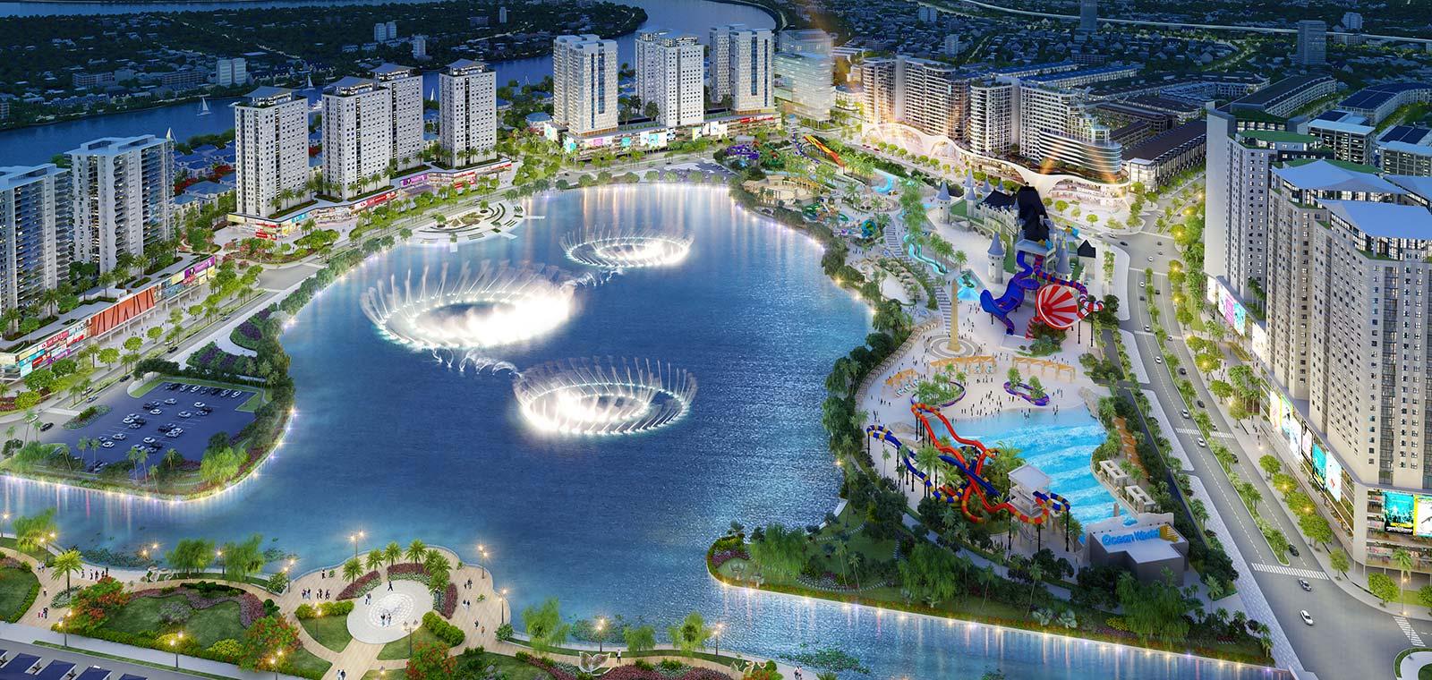Hồ Đại Nhật quy mô 16ha như viên ngọc xanh giữa lòng khu đô thị Vạn Phúc City.